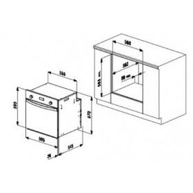 Διαστάσεις εντοιχισμού φούρνου SMALVIC 60cm.