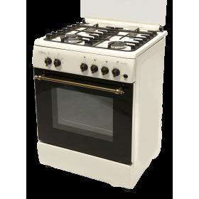 Kουζίνα Yγραερίου Φυσικού αερίου Cucina Italiana BELLA 60 CREAM
