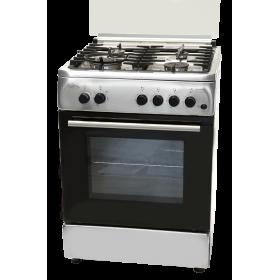 Kουζίνα Ανοξείδωτη Yγραερίου Φυσικού αερίου Cucina Italiana BELLA 60 INOX