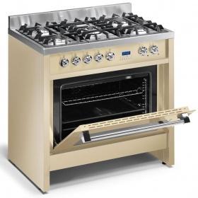 Κουζίνα αερίου μικτή Steel Cucine DERBY 90 (90 εκ.)