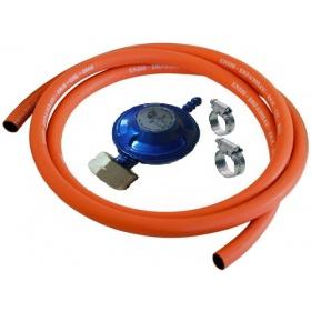 Λάστιχο υγραερίου, ρυθμιστής, σφιγκτήρες για σύνδεση συσκευών με φιάλη
