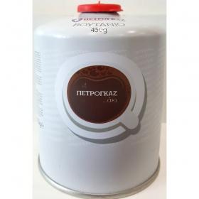 Φιαλίδιο βουτανίου  450 γραμ. με βαλβίδα ασφαλείας και σπείρωμα, PETROGAZ
