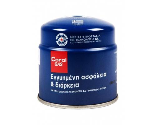 Φιαλίδιο βουτανίου Coral Gas® 190 γραμμαρίων